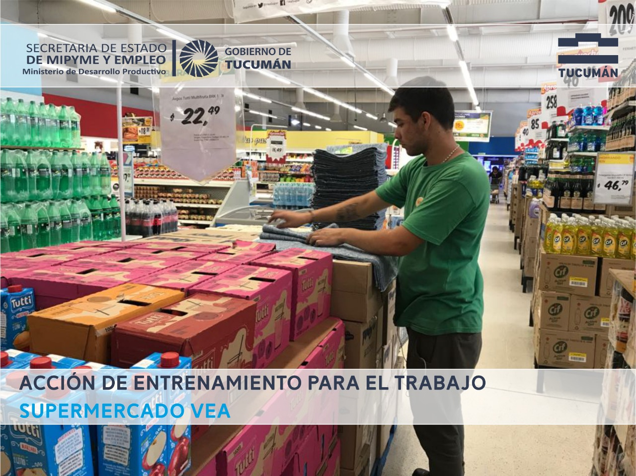 Entrenamiento Laboral en importante cadena de Supermercado