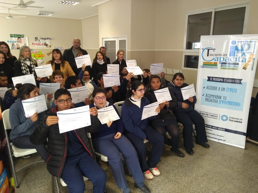 Tucumán Capacita- Acto de finalización de cursos en Yerba Buena