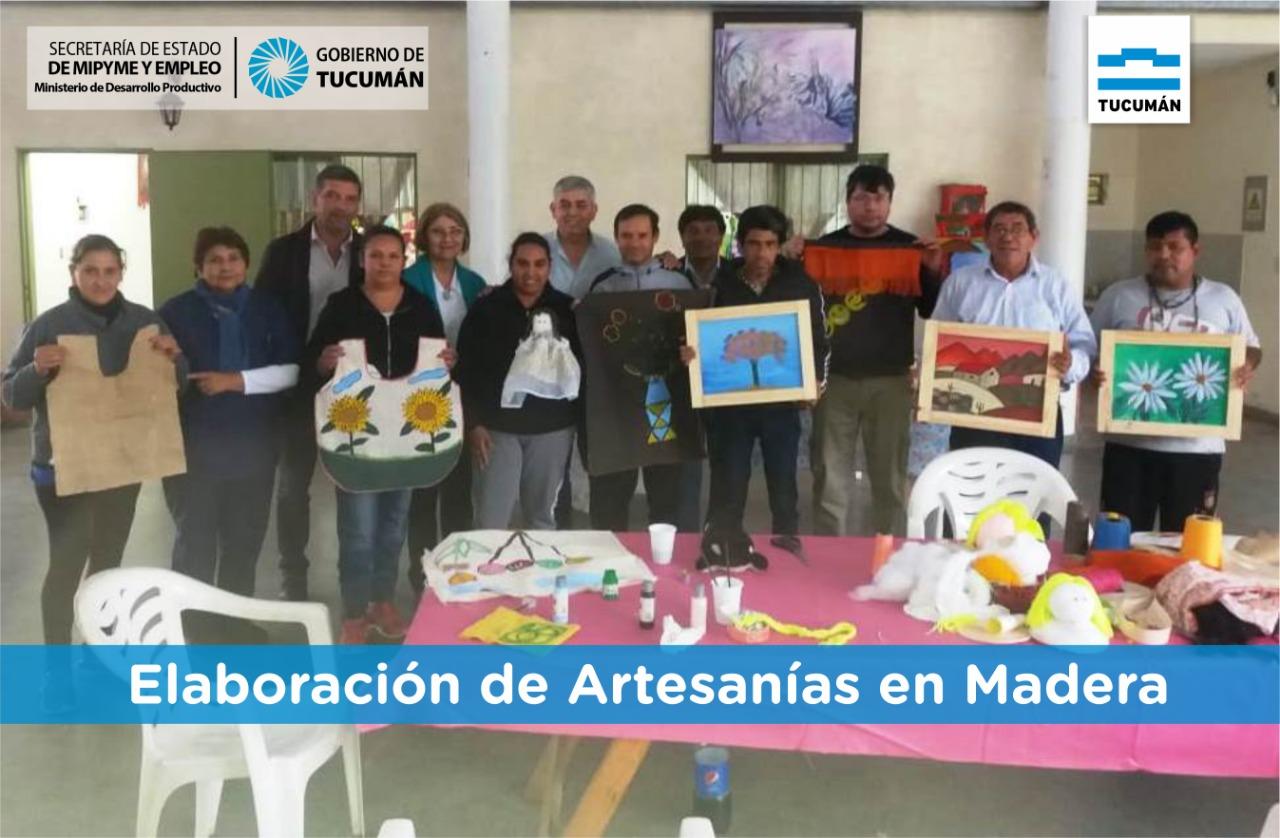 Elaboración de artesanías en Santa Ana – Tucumán Capacita