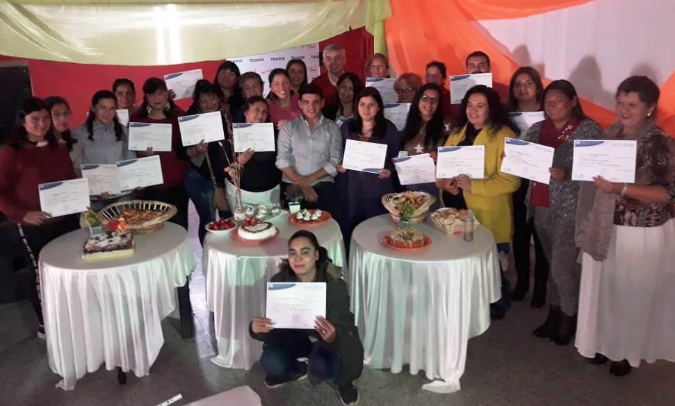 Entrega de certificados – San Pablo se capacito en el rubro gastronómico