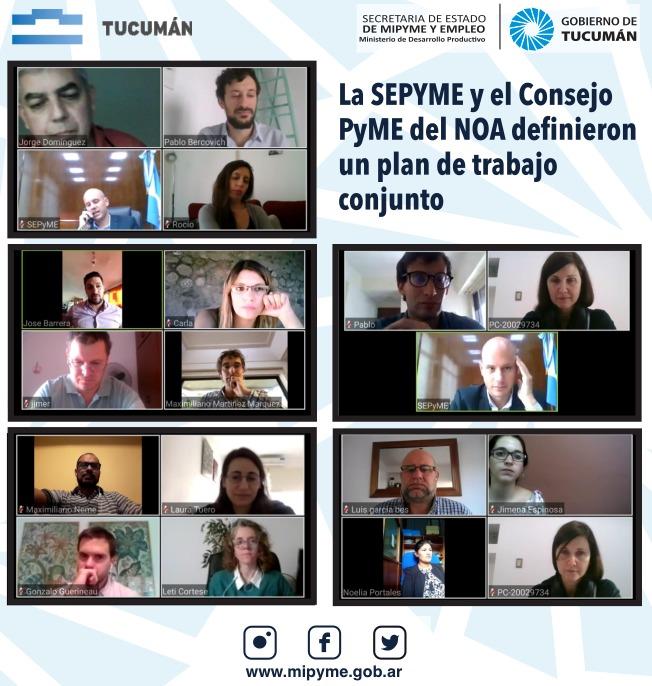 La SEPYME y el Consejo PyME del NOA definieron un plan de trabajo conjunto