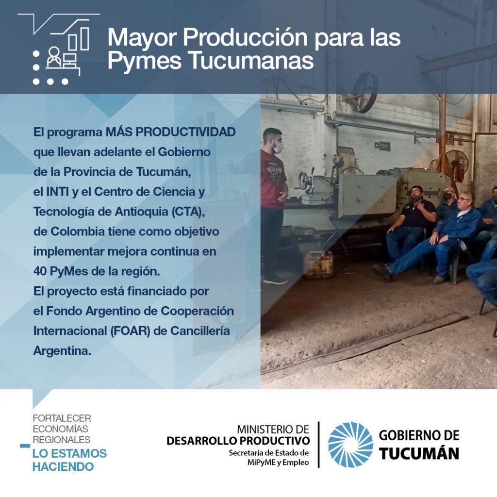 Mayor producción para las pymes tucumanas